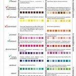 Таблица сочетания цветов цветотипа ЗИМА